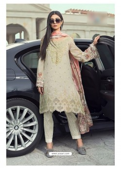Olive Green Cambric Cotton Embroidered Suit