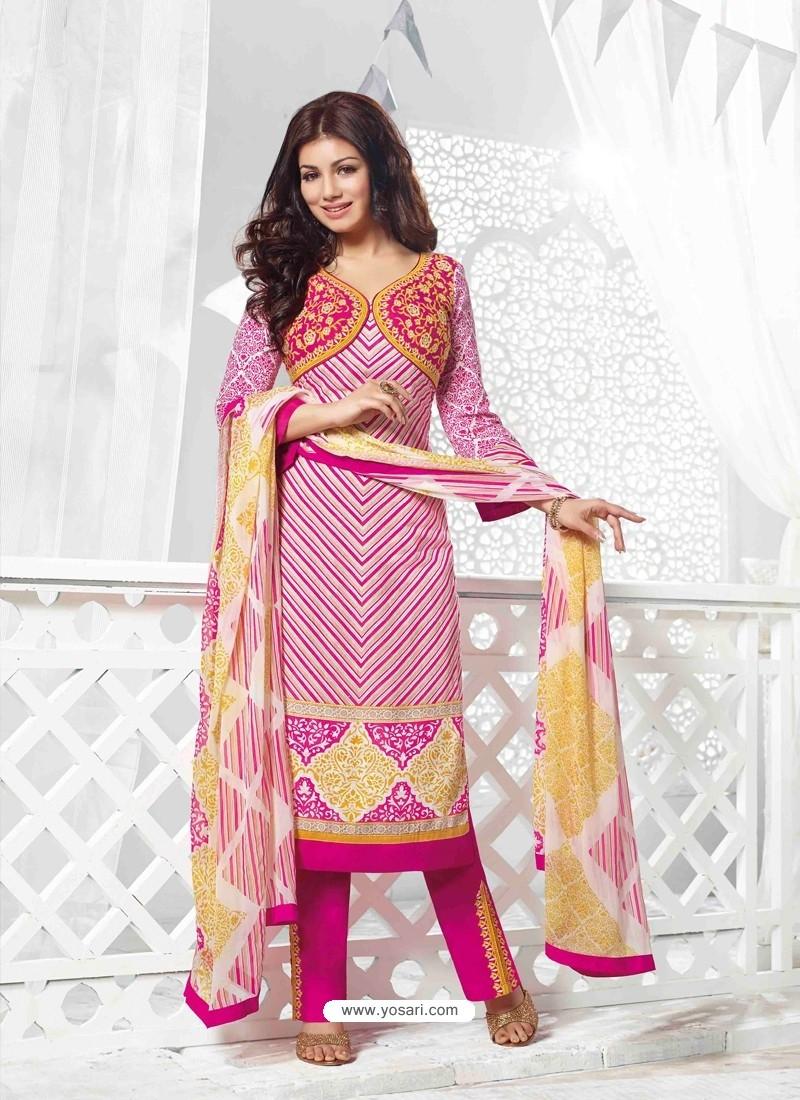 Ayesha Takia Pink Cotton Salwar Kameez