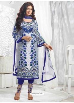 Ayesha Takia Navy Blue Cotton Salwar Kameez