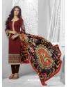 Ayesha Takia Maroon Cotton Churidar Salwar Suits