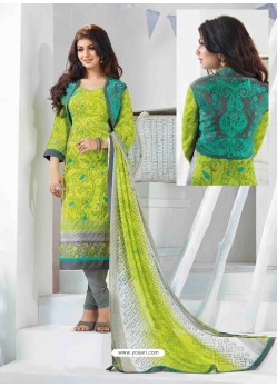 Ayesha Takia Multicolor Cotton Churidar Salwar Suits