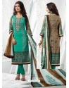 Ayesha Takia Green Cotton Churidar Salwar Suits