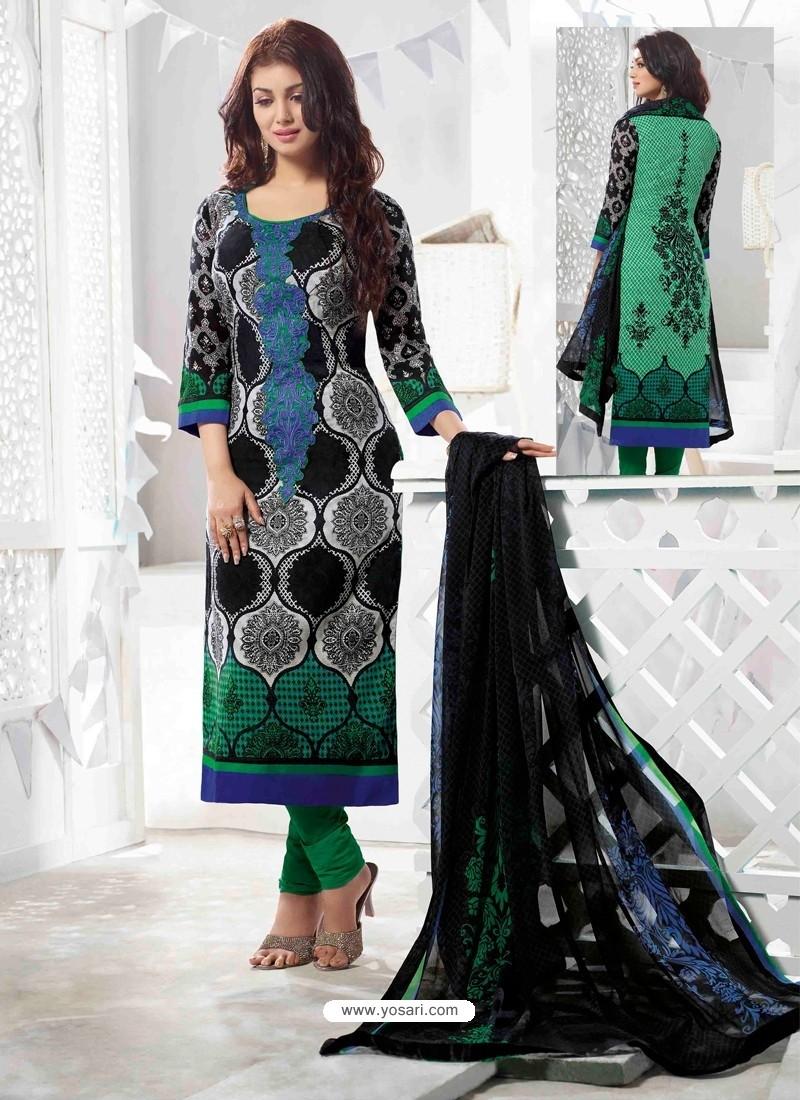 Ayesha Takia Multicolor Cotton Churidar Salwar Suits