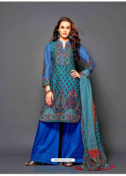 Multicolor Lawn Cotton Pakistani Suit