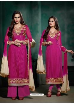 Pink Brasso Salwar Kameez