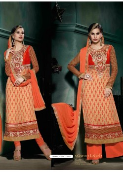 Orange Brasso Salwar Kameez