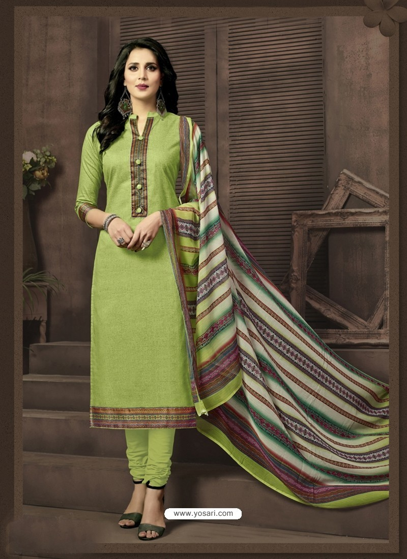37035781a Buy Magnificent Green Cotton Suit