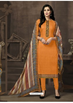 Markable Mustard Churidar Suit