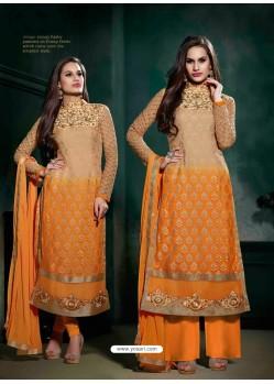 Orange Brasso Salwar Kameez