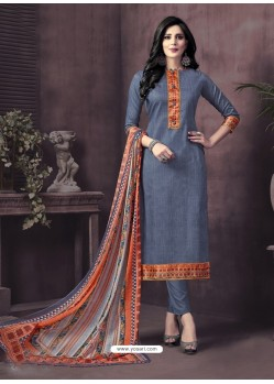 Glowing Cotton Satin Churidar Suit