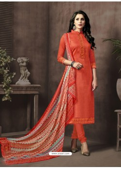 Radiant Cotton Satin Churidar Salwar Suit