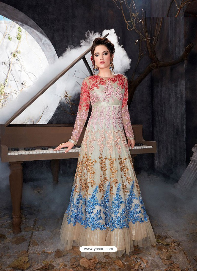 Buy Multi Colour Five Star Nett Gown | Gowns
