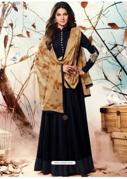 Beautiful Black Designer Floor Length Anarkali Suit