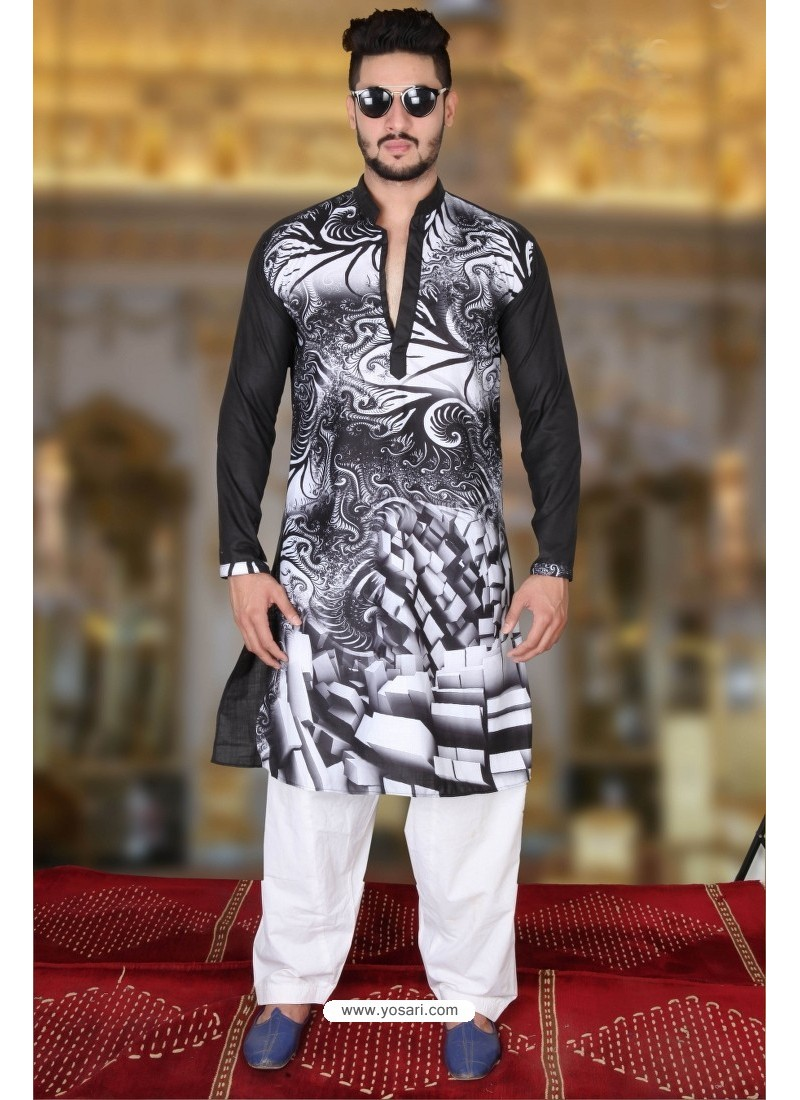 30f3d50966 Fashionable Multi Colour And Black Polyster Designer Readymade Mens Kurta  Pajama