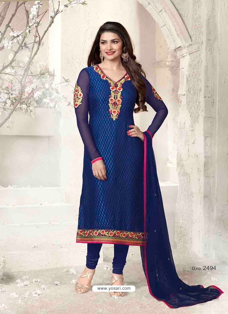 Blue Brasso Churidar Suit
