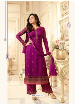 Perfect Purple Georgette Designer Plazzo Suit