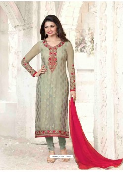 Grey Brasso Churidar Suit