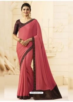 Peach Silk Designer Party Wear Saree