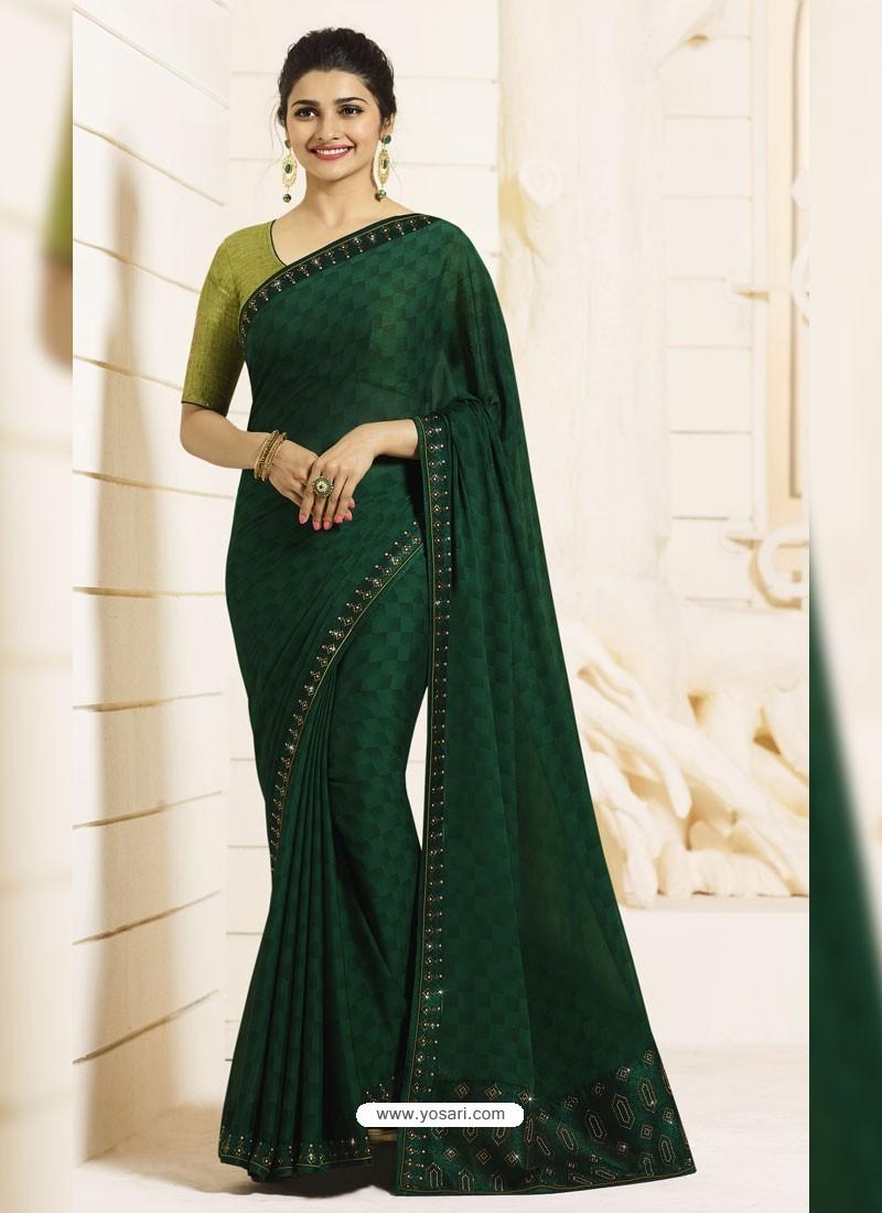 Green Saree Blouse Uk