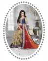 Multicolor Embroidered Work Saree