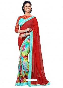 Printed Multicolor Sari