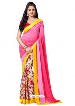 Pretty Pink Color Sari