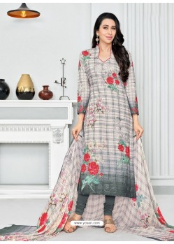 Multi Colour Pure Cotton Printed Designer Churidar Suit