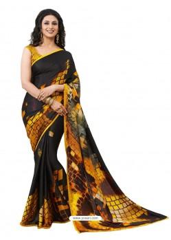 Crape Silk jacorde Digital Printed Sari