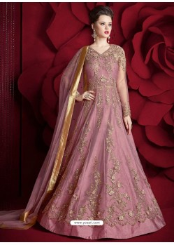 Mesmeric Light Pink Embroidered Designer Floor Length Anarkali Suit
