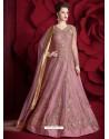 Mesmeric Light Pink Embroidered Designer Floor Length Anarkali Suit