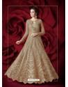 Golden Embroidered Designer Floor Length Anarkali Suit