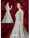 Beautiful Grey Embroidered Designer Floor Length Anarkali Suit