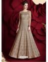 Fantastic Light Brown Embroidered Designer Floor Length Anarkali Suit