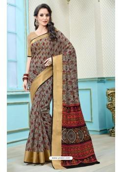 Latest Multi Colour Printed Cotton Designer Saree