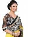 Beautiful Black and Yellow Color Sari
