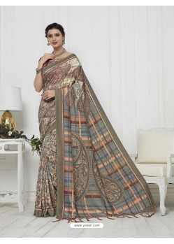 Awesome Multi Colour Pashmina silk Designer Saree