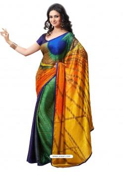 Bemberg Poly Multicolor Sari
