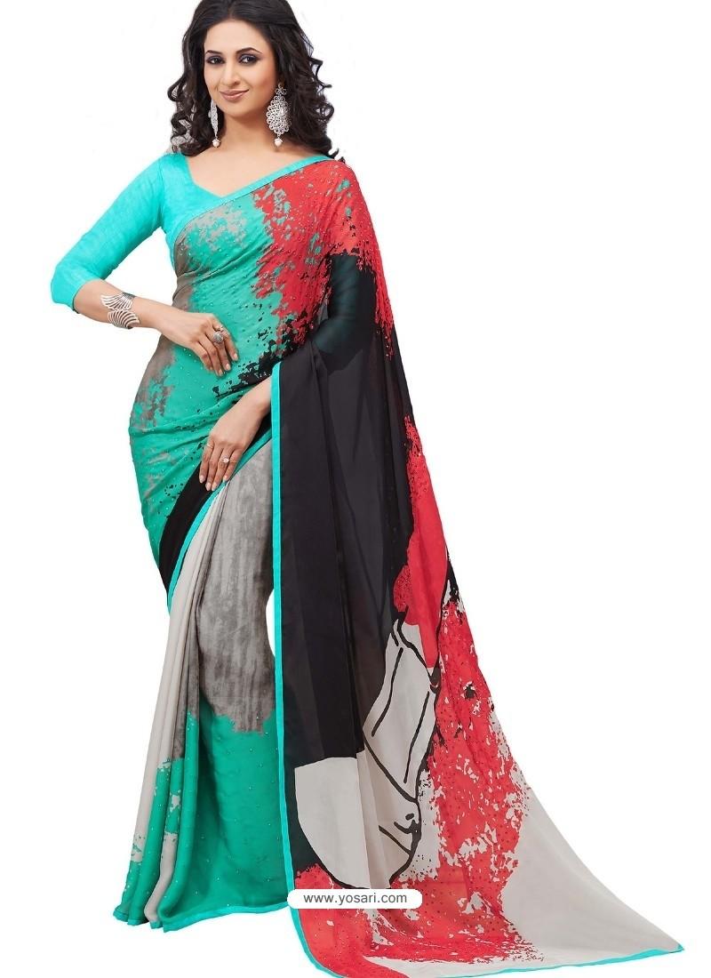 Beautiful Multicolor Sari
