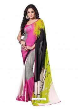 Georgette Multishade Sari