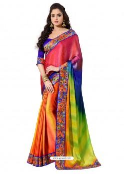 Preety Multicolor Crape Silk Sari