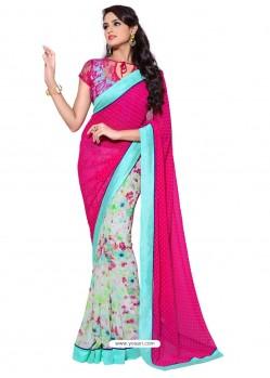 Pink Pallu Multicolor Sari