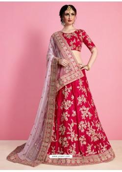 Crimson Silk Desinger Wedding Lehenga Choli