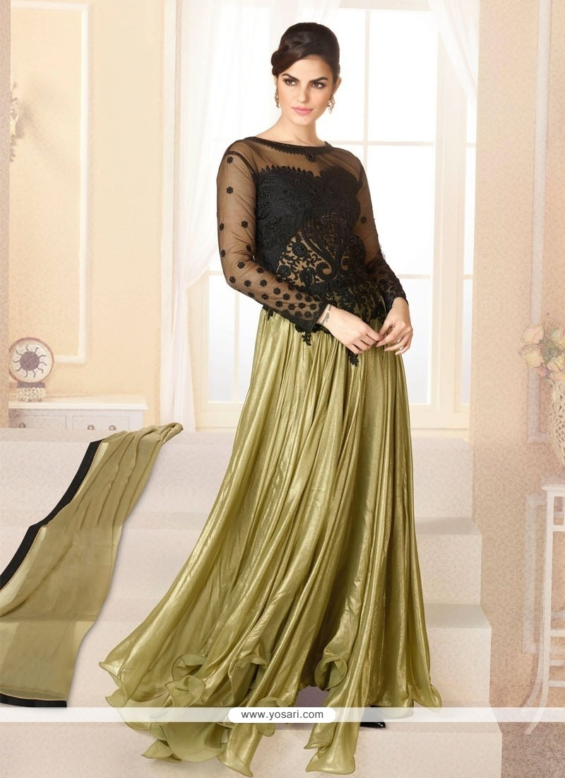 Awesome Green Georgette Anarkali Salwar Suit