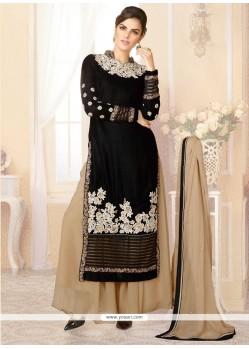 Lovely Black Velvet Designer Palazzo Suit