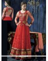 Jaaz Red Net Anarkali Salwar Suit