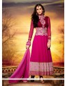 Stunning Hot Pink Georgette Anarkali Suit