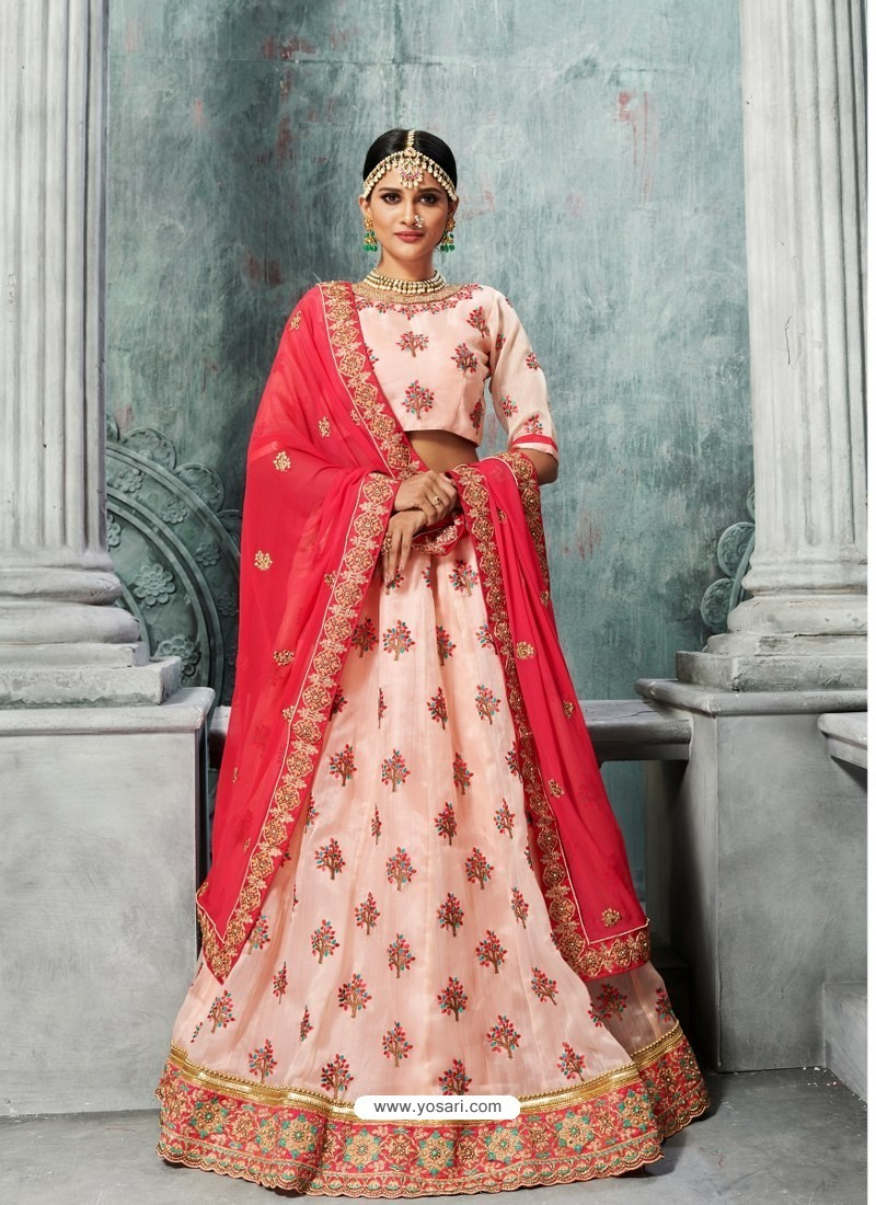 820be92e8b Buy Beautiful Baby Pink Organza Embroidered Designer Lehenga Choli ...