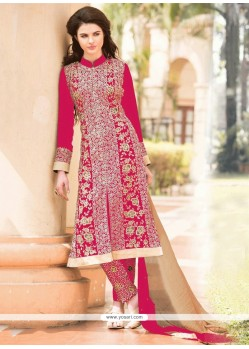 Ombre Magenta Georgette Pant Style Suit