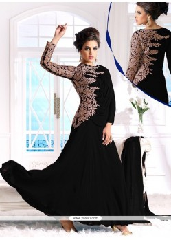 Ombre Black Zari Work Anarkali Suit