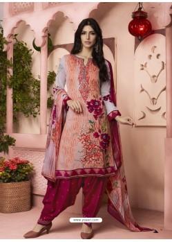 Multi Colour Digital Printed Pure Cotton Designer Patiala Salwar Suit